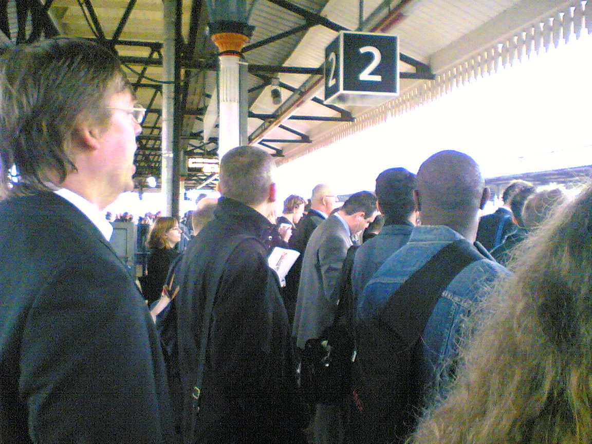 Commuter Hell at Clapham Junction by  Croll on Flickr