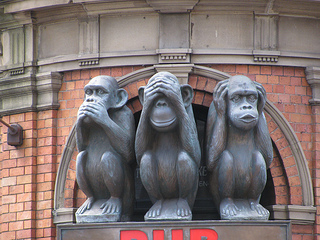 Three Monkeys by KLW NFC on Flickr