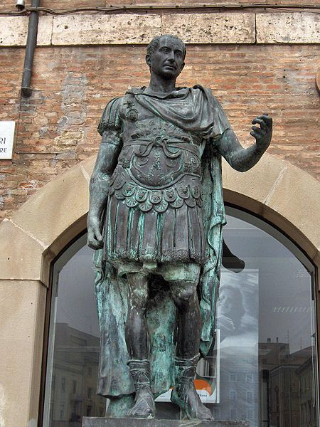 Gaius Julius Caesar, Rimini Italy Photo by Georges Jansoone